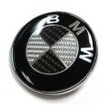 Емблема Задна за БМВ черен карбон